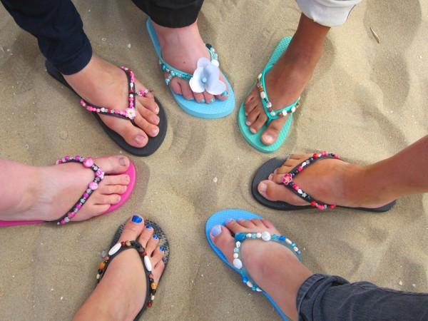 Uitgelicht: slippers versieren Scheveningen