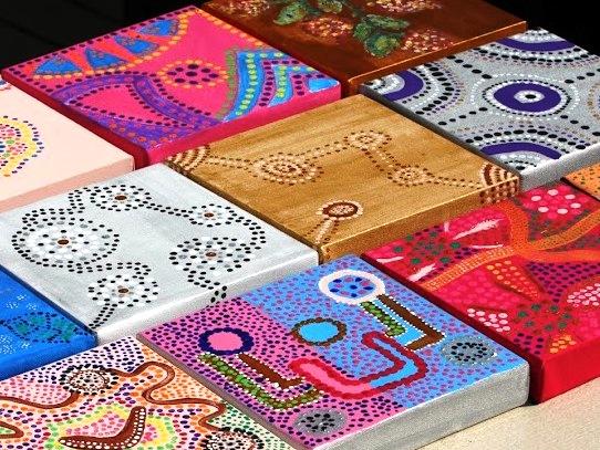 Aboriginal painting Scheveningen